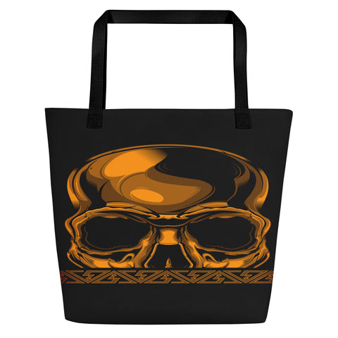 G2GBay SKULL FACE Orange Beach Bag