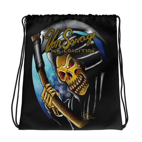 Rik Sharp Grim Reaper Drawstring bag