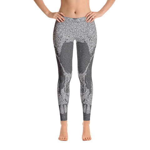BLR Skull Black and Grey Leggings