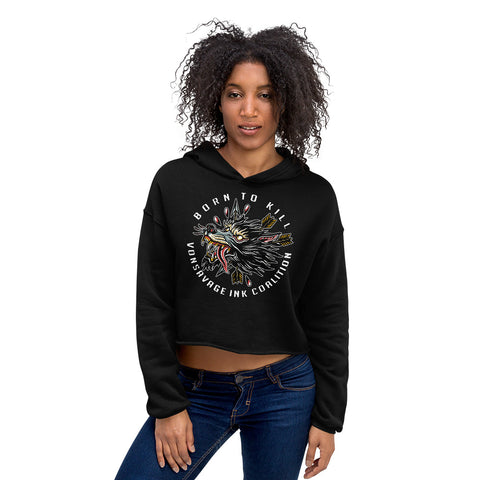 Born to Kill Crop Hoodie