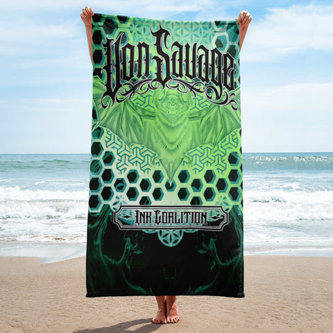 Adam O'Brien Green Bat Beach Towel