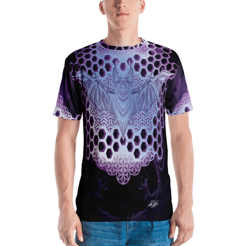 Adam O'Brien Violet Bat Men's T-shirt