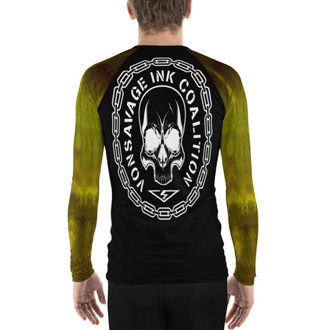 Chartreuse Ombre Sleeved Insignia Men's Rash Guard