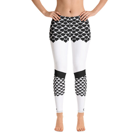 Polynesian White Leggings