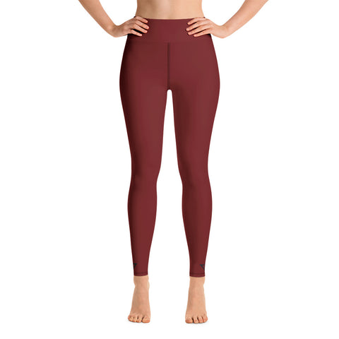 Yoga Leggings Burgundy