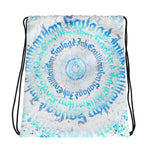 BlackLetterRitual Calligrafitti Frost Drawstring bag
