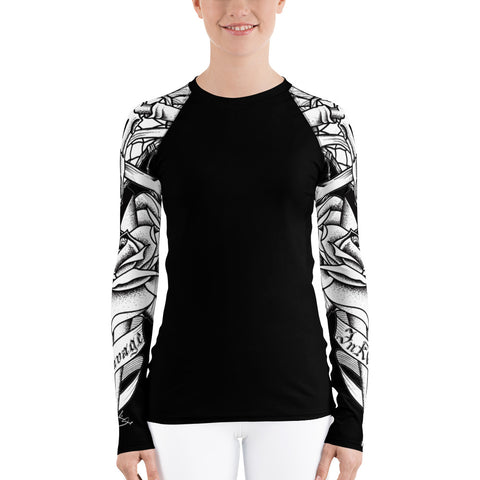 Rik Sharp Skull and Dagger Women's Rash Guard