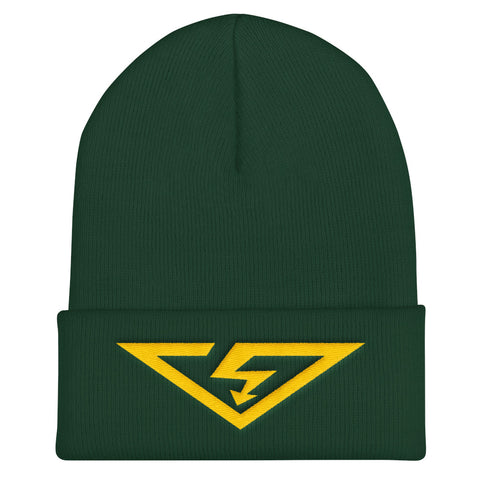 VS Logo Gold Threads Cuffed Beanie