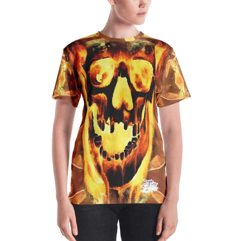 John Todd Orange Water Skuller Women's Crew Neck T-shirt