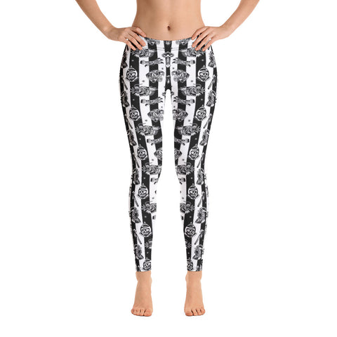 Savage Pattern Striped Leggings