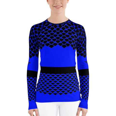 Polynesian Royal Blue Women's Rash Guard