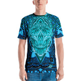 Adam O'Brien High Cyan Skull Men's T-shirt