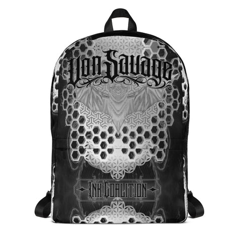 Adam O'Brien Black and Grey Bat Backpack