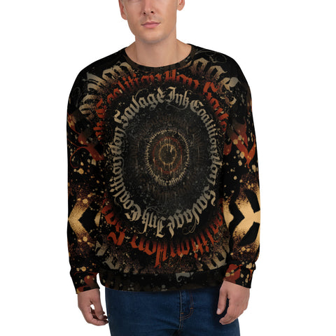 BlackLetterRitual Calligrafitti Regal Black, Red and Gold Unisex Sweatshirt
