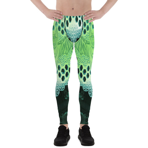 Adam O'Brien Green Bat Men's Leggings