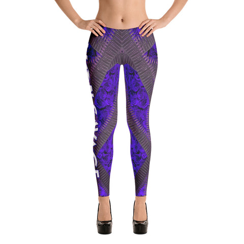 VonSavage Ammo Rose Purple Leggings