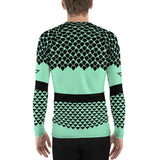 Polynesian Mint Men's Rash Guard