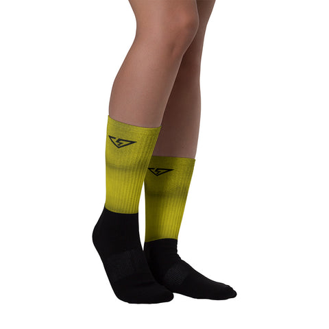 Chartreuse Ombre Socks