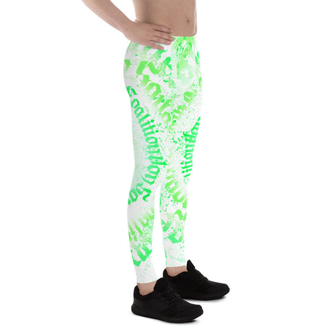 BLR Calligrafitti Key Lime Men's Leggings