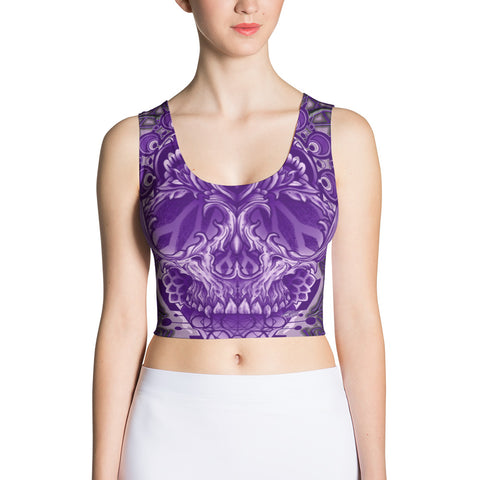 Adam O'Brien Purple Skull Crop Top