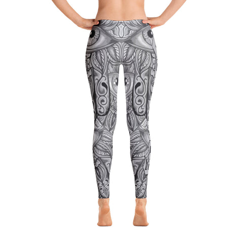 Todd Boling Hamsa Black and Grey Leggings