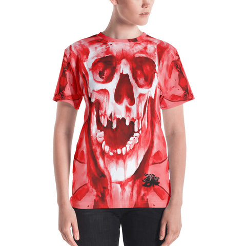 John Todd Red Water Skuller Women's Crew Neck T-shirt