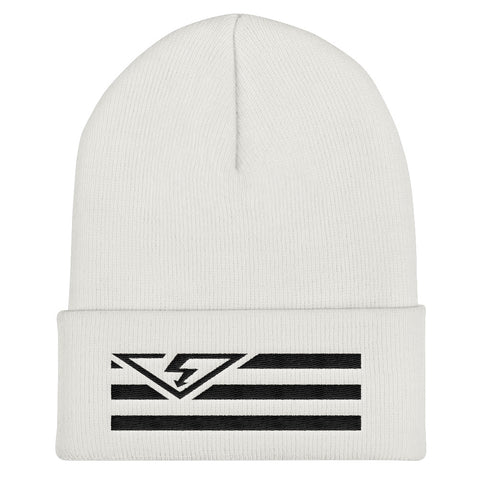 VS FLAG LOGO Black Threads Cuffed Beanie