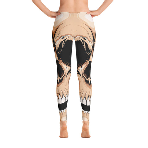 G2GBay SKULL FACE Nude Leggings