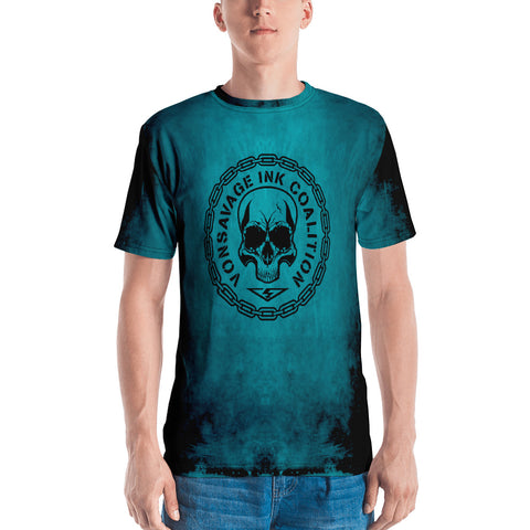 Destroy Cyan/Black Insignia Men's Crew Neck T-shirt