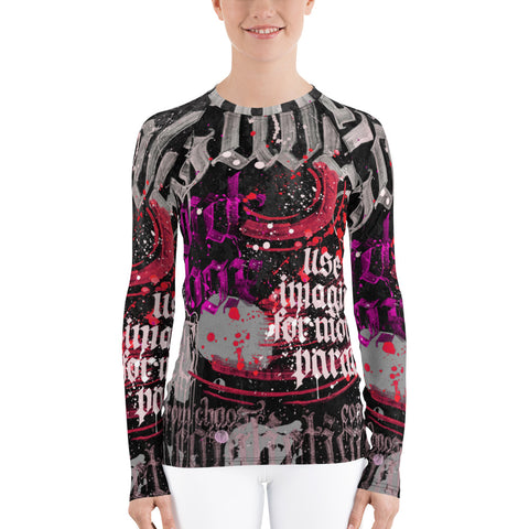 BlackLetterRitual Calligrafitti Women's Rash Guard