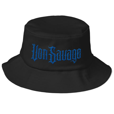 VonSavage Royal Blue Threads Old School Bucket Hat