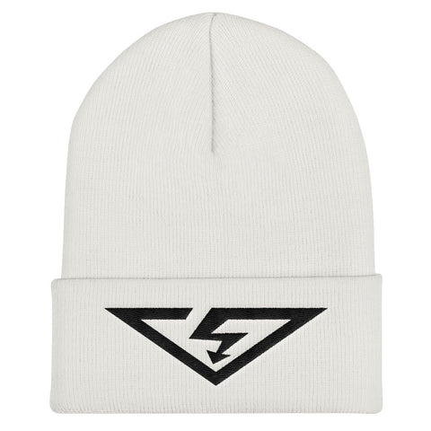 VS LOGO Black Threads Cuffed Beanie