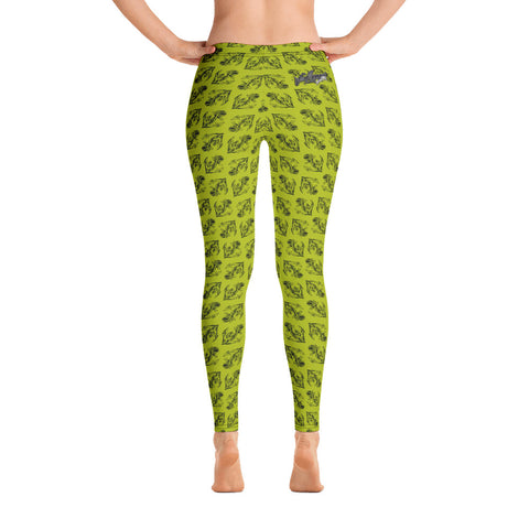 Jeremy Harburn Anchors NT Green Leggings