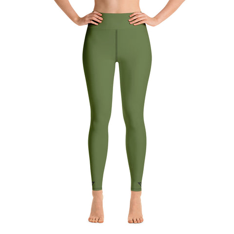 Yoga Leggings Olive Green