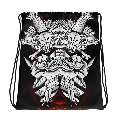 Rik Sharp Skull and Dagger Drawstring Bag