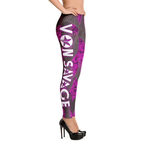 VonSavage Ammo Rose Pink Leggings