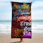 "BlackLetterRitual ""Redemption"" Towel in Black/Red/Rust"