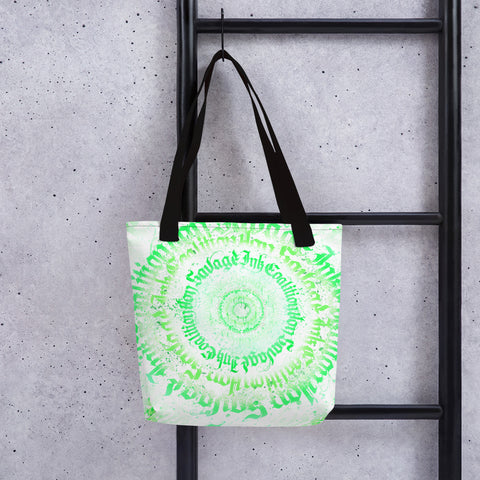 BlackLetterRitual Calligrafitti Key Lime Tote bag