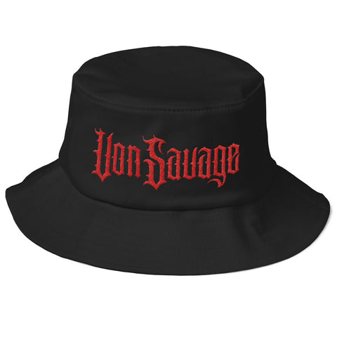 VonSavage Red Threads Old School Bucket Hat