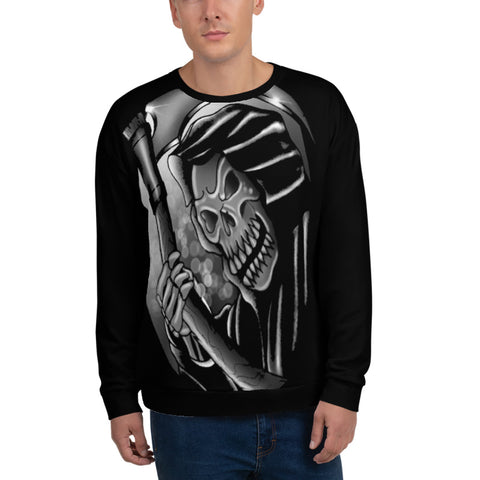 Rik Sharp Black and Grey Grim Reaper Unisex Sweatshirt