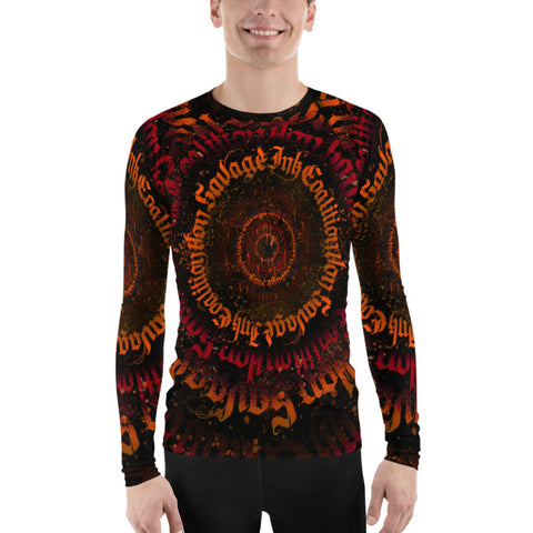 BlackLetterRitual Calligrafitti Rage Men's Rash Guard
