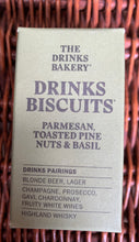 Load image into Gallery viewer, The Drinks Bakery - Parmesan, Toast Pinenut & Basil Biscuits 36g