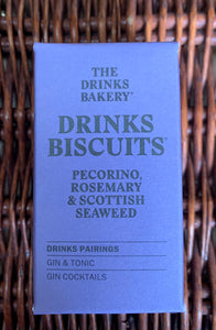 The Drinks Bakery - Pecorino, Rosemary & Seaweed Biscuits 36g