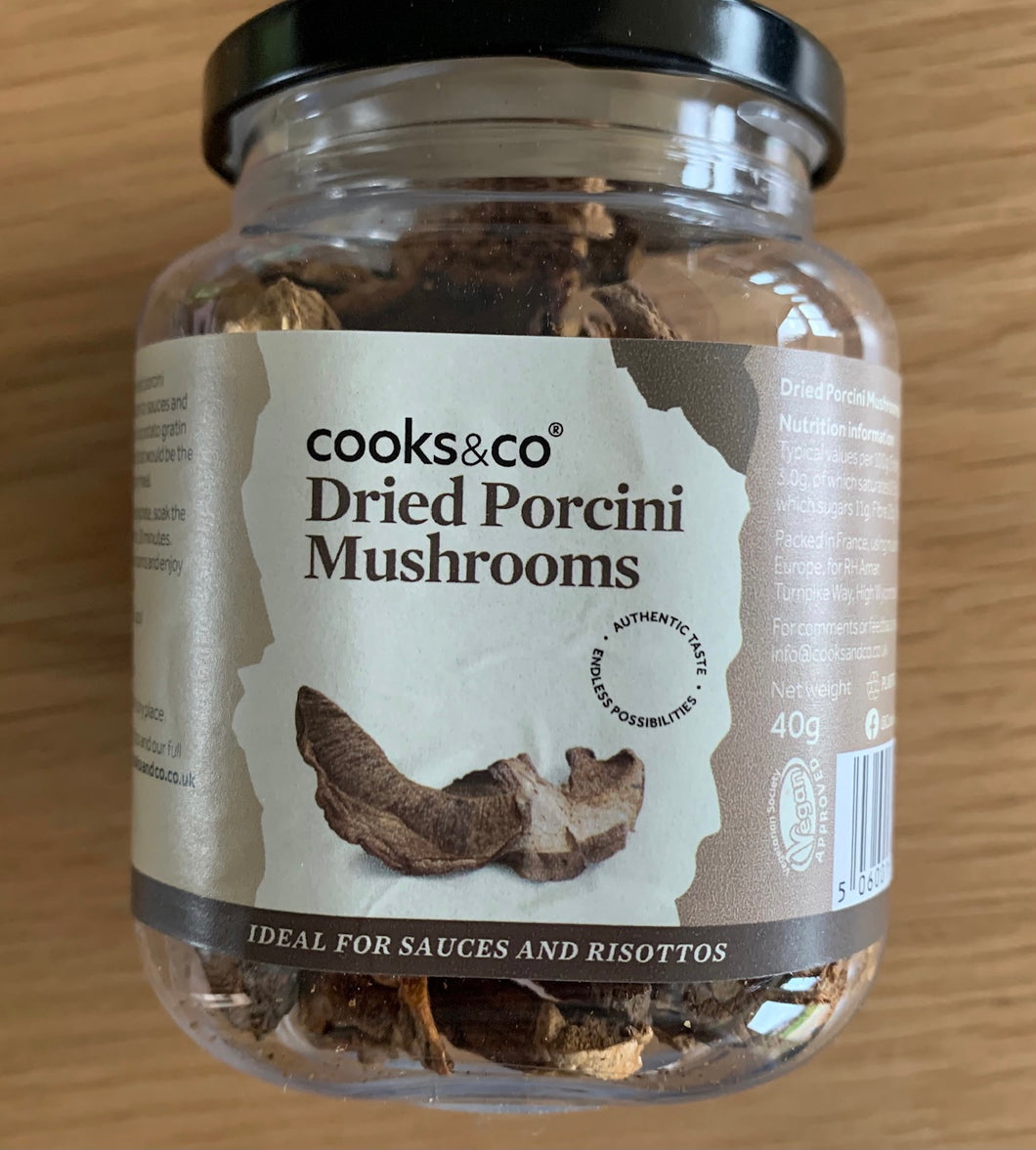 Cooks & Co Dried Porcini Mushrooms 40g