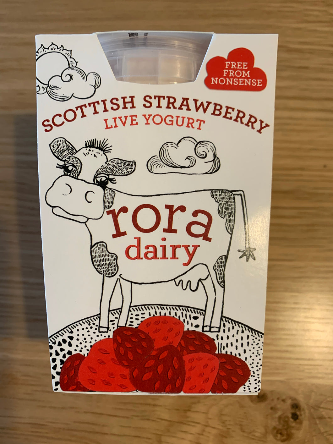 Rora Dairy - Scottish Strawberry Yoghurt 490g