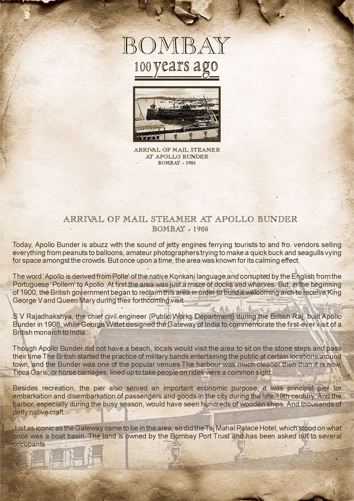 Arrival of Mail Steamer at Apollo Bunder