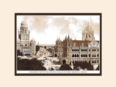 Panaromic View of the Muncipal Hall & Victoria Terminus