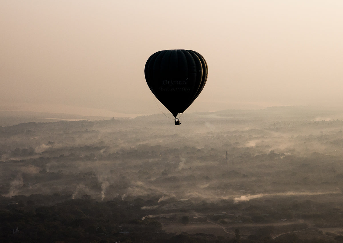 Hot Air Balloon In Bagan- Myanmar
