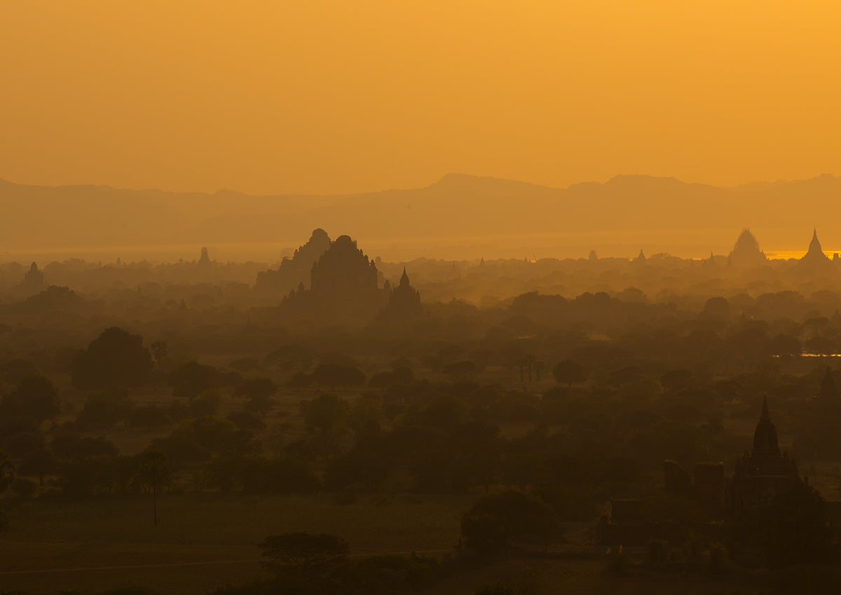 Picturesque Sunset In Bagan- Myanmar.