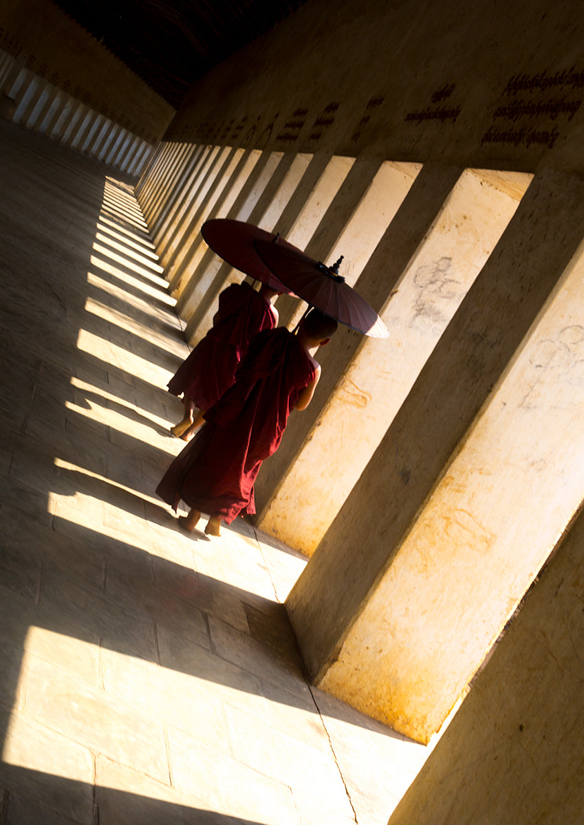 Young Monks In Bagan- Myanmar
